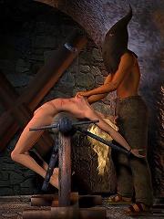 Dream Girl is fucked by Goblin