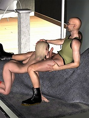 3D Blonde gets banged by 3D master