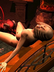 Secretary gets bound and bursts orgasm